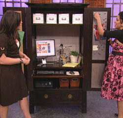 Rachel Ray restyles an armoire into a bar