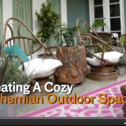 Creating a Bohemian Outdoor Space