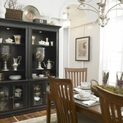 Black Dining Hutch