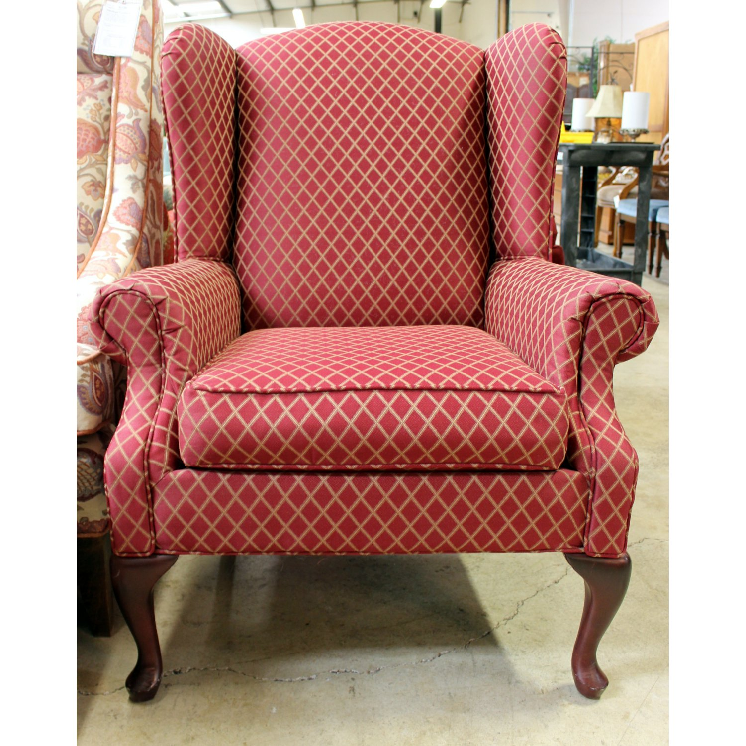 Ordinaire Rowe Red Wingback Accent Chair