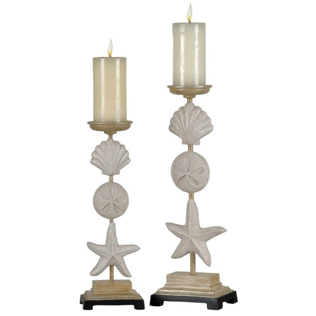 Pair of Seaside Candle Holders
