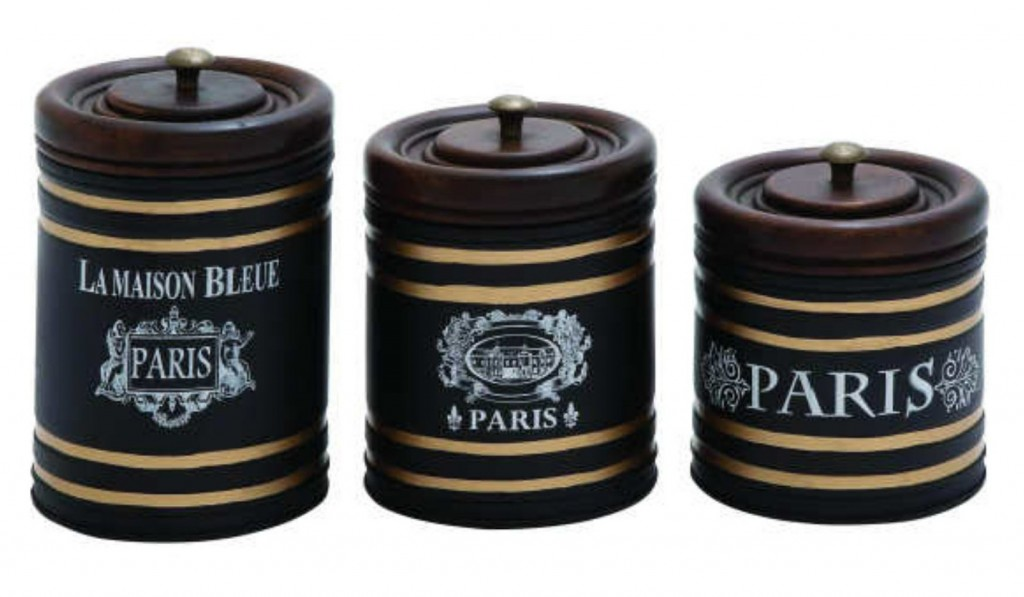 Paris Metal Jar 3-Piece Set